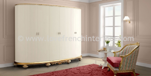 Venezia Oval Six Door Wardrobe